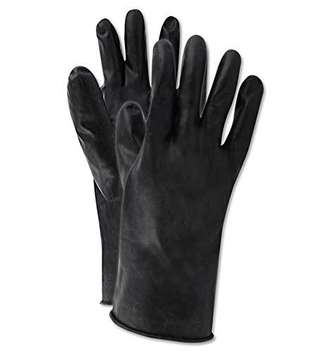 North by Honeywell B131R/9 Smooth Finish Butyl Glove, Rough, 9, Black