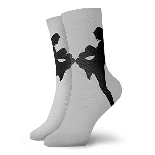 Muay Thai Silhouette Short Crew Socks Dress Socks Athletic Socks