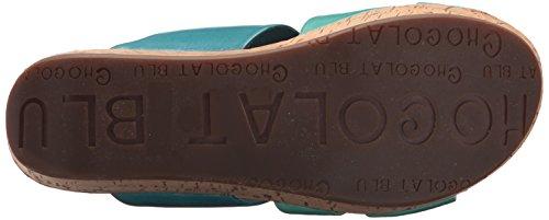 US Triple Pool Sandal Women's Band Morgan Blu M Chocolat 6 Wedge xvSwgCPq