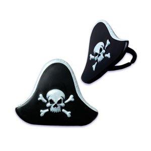 PIRATE HAT SHAPED CUPCAKE RINGS SET OF 12 -