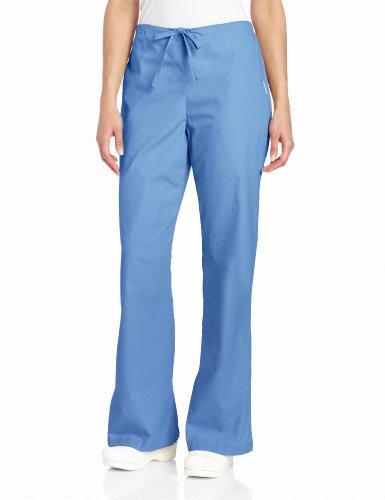 - Landau Women's Comfortable 2-Pocket Drawstring Flare Leg Scrub Pant, Ceil Blue, Large