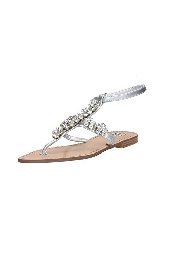 Chancletas Guess Mujer Flles2 Fab21 plateado OrP6Oxq