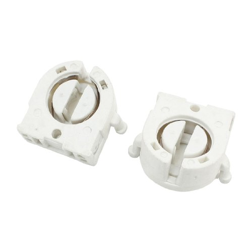 uxcell Plastic Shell Fluorescent Lamp Socket for T8 Tube Light 2 Pcs