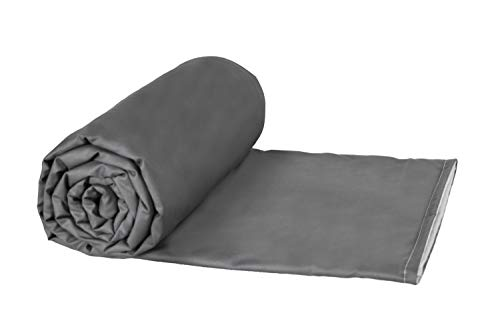 Cheap Weighted Blankets Plus LLC - Made in USA - Adult Extra Large Weighted Blanket - Grey - Cotton/Flannel (80