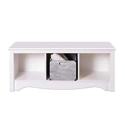 Bench White Entryway (Prepac Monterey White Cubbie Bench)