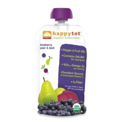 Happy Baby Happy Tot 4.22-oz Pouch Veggie & Fruit Mix in Blueberry, Pear, & Beet