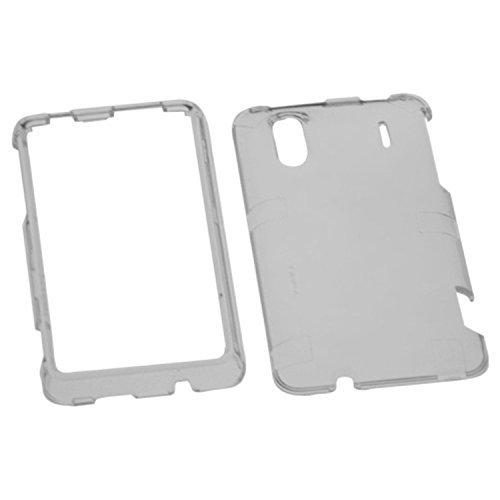MYBAT HTCHERO4GHPCTR010NP Durable Transparent Case for HTC EVO Design 4G/Hero S - 1 Pack - Retail Packaging - - Faceplate Smoke Design Transparent