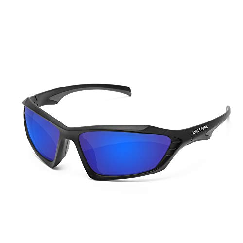 AULLY PARK Polarized Sports Sunglasses for Men Women Fishing Driving Cycling Golf Baseball Running – TR90 Unbreakable Frame, FDA Approved Review