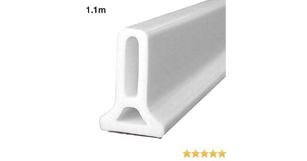 Goodtimera - Burlete para Puerta corredera con Adhesivo para el Tiempo, de Silicona, para Puertas y Ventanas, a, 1,1 m: Amazon.es: Hogar