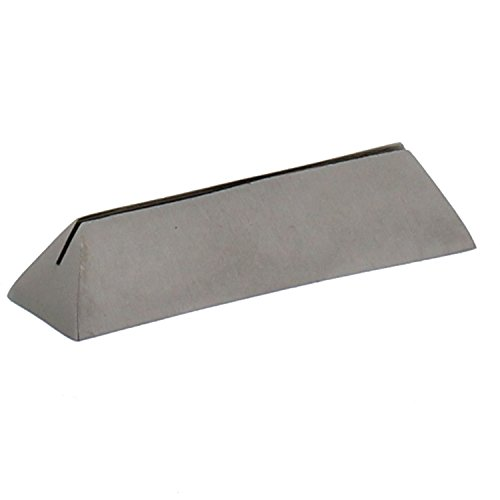Silver Iron Place Card Holder Set | Nickel Metal Triangle Bar Simple (Pair Card Place Holders Silver)