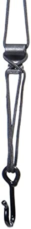 Junior Neotech Wick-it Sax 8401182 Black Saxophone Strap Metal Hook