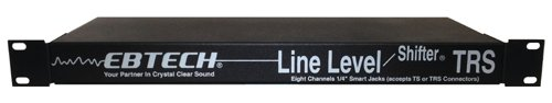 Ebtech LLS-8 Line Level Shifter 8-Channel Single Space Rack by EBTECH
