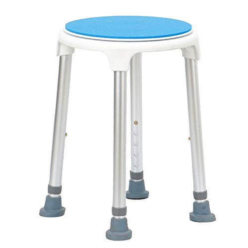 Multifunctional Thickened High-Rotation Height Adjustable Bathroom Stool Bathroom Chair Aluminum Alloy Bath Chair for Elderly Disabled Pregnant Women
