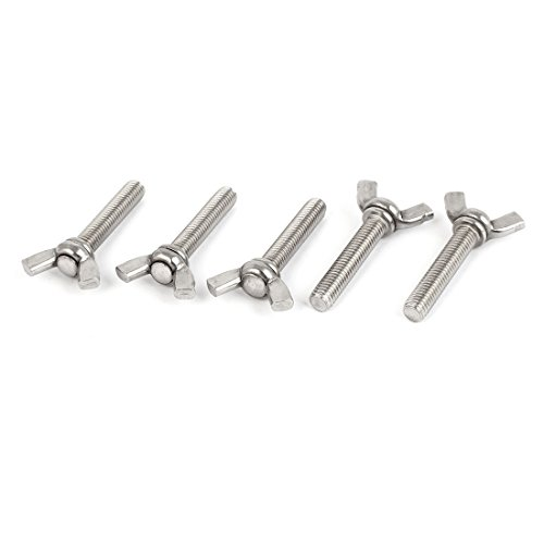 - Uxcell a16060600ux0217 Metric M8 304 Stainless Steel Wing Butterfly Thumb Screw 5pcs
