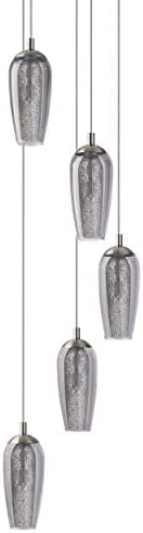 EGLO FARSALA Hängeleuchte, Stahl, 3 W, nickel-matt