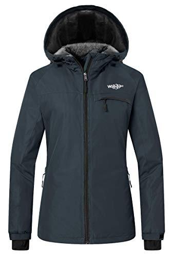Wantdo Women's Winter Jacket Mountain Waterproof Hoodie for Riding Dark Gray M (Best Cheap Red Wine Canada)