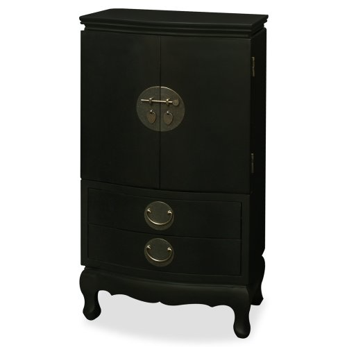 Ming Style Jewelry Armoire - Black