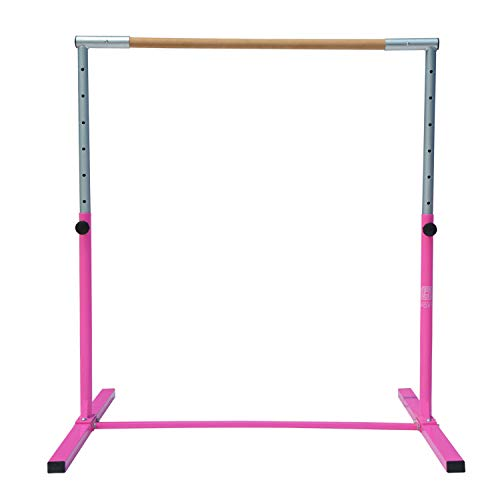 Modern-Depo Junior PRO Gymnastics Kip Bar | Adjustable (3'- 5') Training Horizontal Bar Beech Wood - Pink by Modern-Depo (Image #4)