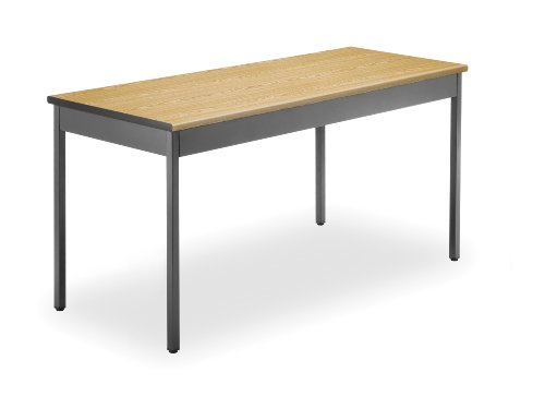 (OFM UT2460-OAK Utility Table, 24 by 60-Inch, Oak)