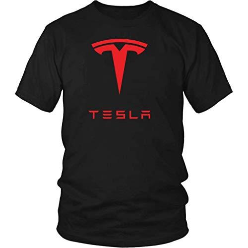 Yuliana Tesla Inc T-Shirt Men Cotton Tee Black