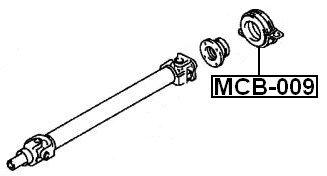 Febest Mitsubishi Center Bearing Support Mb505495 Oem