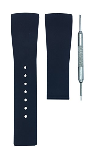 Gucci Watch Strap - 26mm Black Diver Watch Band Replacement Stra | Free Spring Bar Tool