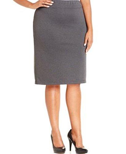 Style&co women ponte knit pencil skirt plus size 3x deep grey hthr