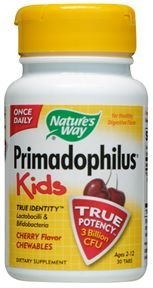 (Nature's Way Primadophilus for Kids, Cherry, 30 Count Chewables (Pack of)