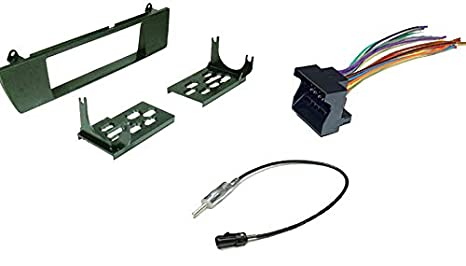 carxtc stereo wiring harness, dash install kit faceplate, with fm antenna  adaptor (combo