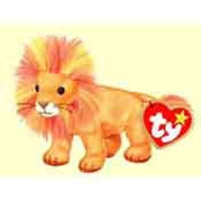 6acc0e1708e Amazon.com  Bushy the Lion - McDonald s Ty Teenie Beanie MIP - 2000 ...