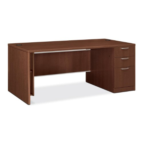 Hon Right Single Pedestal Desk, 72 by 36 by 29-1/2-Inch