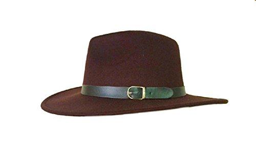 27042 Trilby Wool Felt Import Fedora Aussie Hat 7 3/8 59cm ()