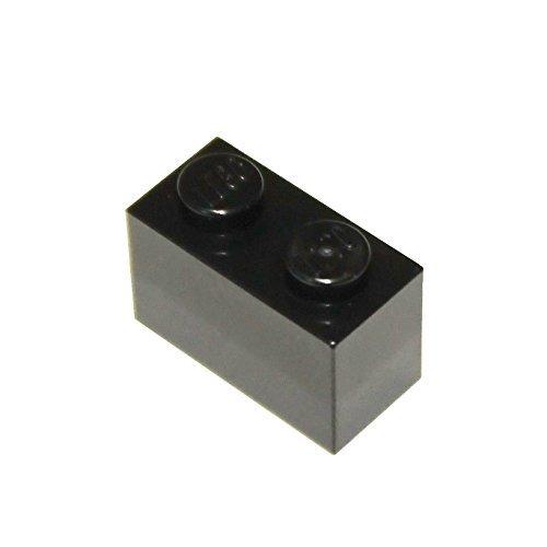 LEGO Parts and Pieces: Black 1x2 Brick - Lego 2x4