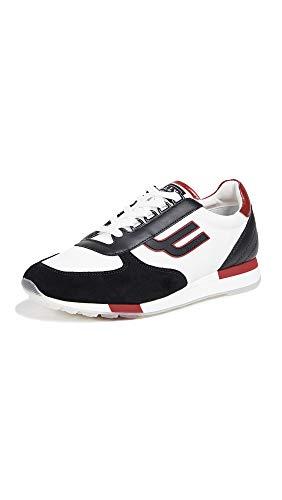 Bally Shoes Leather - BALLY Men's Gavino Sneakers, Black, 10 M US