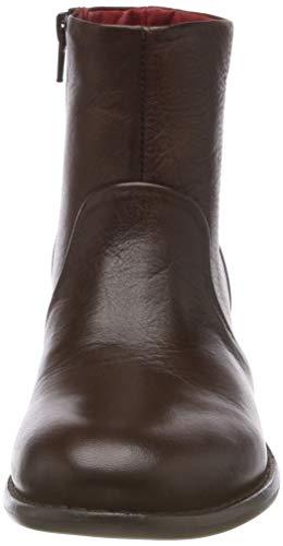 Buffalo Brown 01 Botines Verona Leather Femme 00 Brush Marron 71Orwx7Y