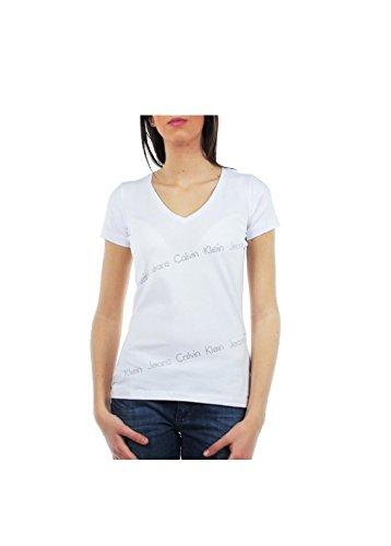 Camiseta Calvin Klein cuello V cwp440 blanco