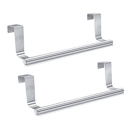Mosuch Stainless Steel Over Door Towel Rack - Set of 2