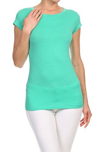 Active Basic Women Crew Neck Short Sleeve T Shirt