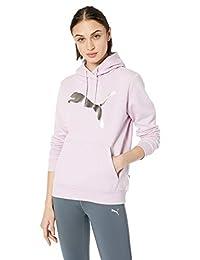PUMA Womens Ess Logo Hoody FL Foil Pack Hoodies & Sweatshirts