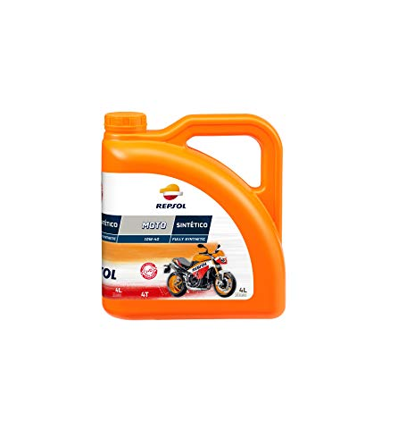 Repsol RRP163N54 Moto Sintetico 4T 10W-40 Aceite de Motor, Multicolor,