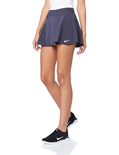 Nike Women's Court Pure Flouncy Tennis Skirt (M, Gridiron/White) ()