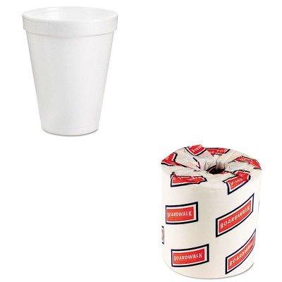KITBWK6180DRC8J8BG - Value Kit - Dart Drink Foam Cups (DRC8J8BG) and White 2-Ply Toilet Tissue, 4.5quot; x 3quot; Sheet Size (BWK6180) (Toilet Paper Foam)