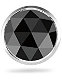0.11-0.13 Cts Black Diamond Mens Stud Earring in 14K White Gold - Valentine's Day Sale