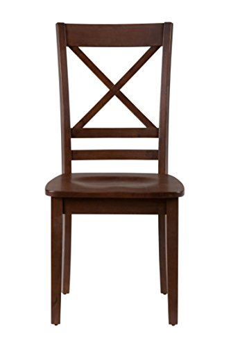 Jofran , Simplicity, Dining Side Chair, 18 W X 23 D X 38 H, Caramel Finish, Set of 2