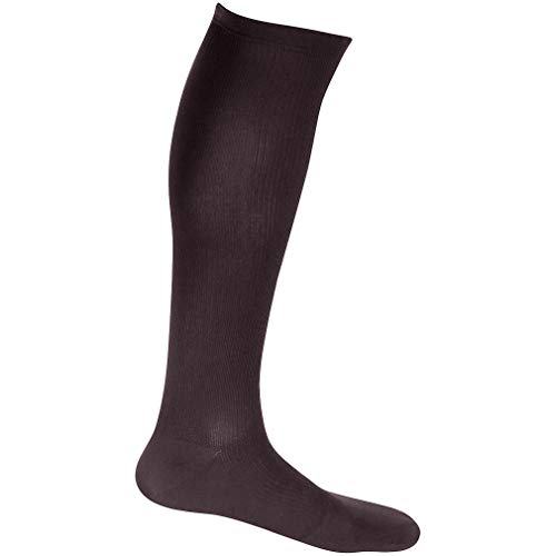 EvoNation Mens USA Made Graduated Compression Socks 20-30 mmHg Firm Pressure Medical Quality Knee High Orthopedic Support Stockings Hose - Best Comfort Fit, Circulation, Travel (Large, Brown)
