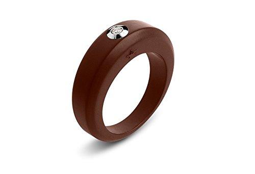Bague anneau diamant blanc - Panajee