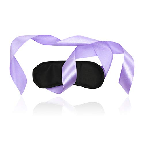 (Role Play Game Set Sexy Purple Ribbon Leather Eye Mask Blindfold Cover Masquerade Hallowmas Cosplay Costume Accessory)