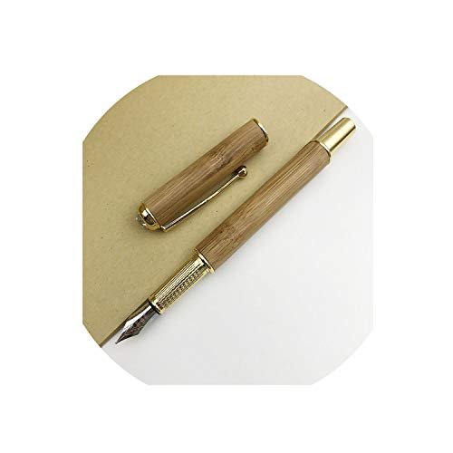 Mont Blanc Skeleton - Retro Metal Wood Fountain Pens 0.5Mm Fine Nib Smooth Writing Gift Pens For Men Women,A,F