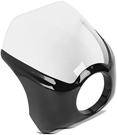Cupolino carena de faro HF1 per Harley Dyna Super Glide//Custom nero