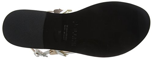 Napu Qu de para Bi Pollini Multicolor Talón Sandalias Mujer 10a Sandal W Lm Abierto pu wgOzR